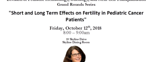 October 12th Grand Rounds Lecture